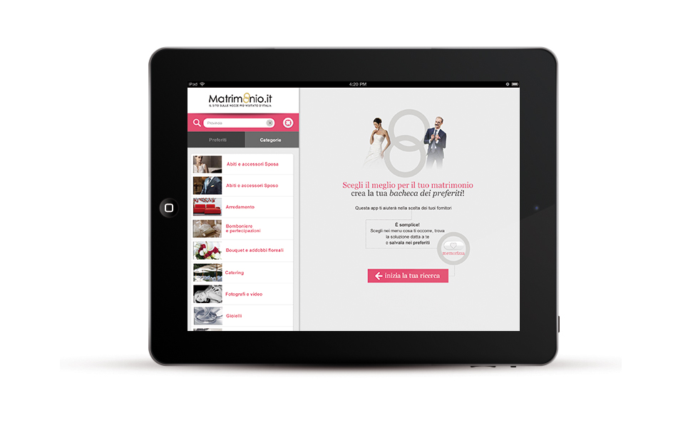APP MATRIMONIO.IT TABLET 03