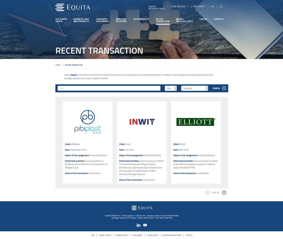 INTERNO RECENT TRANSACTION EQUITA